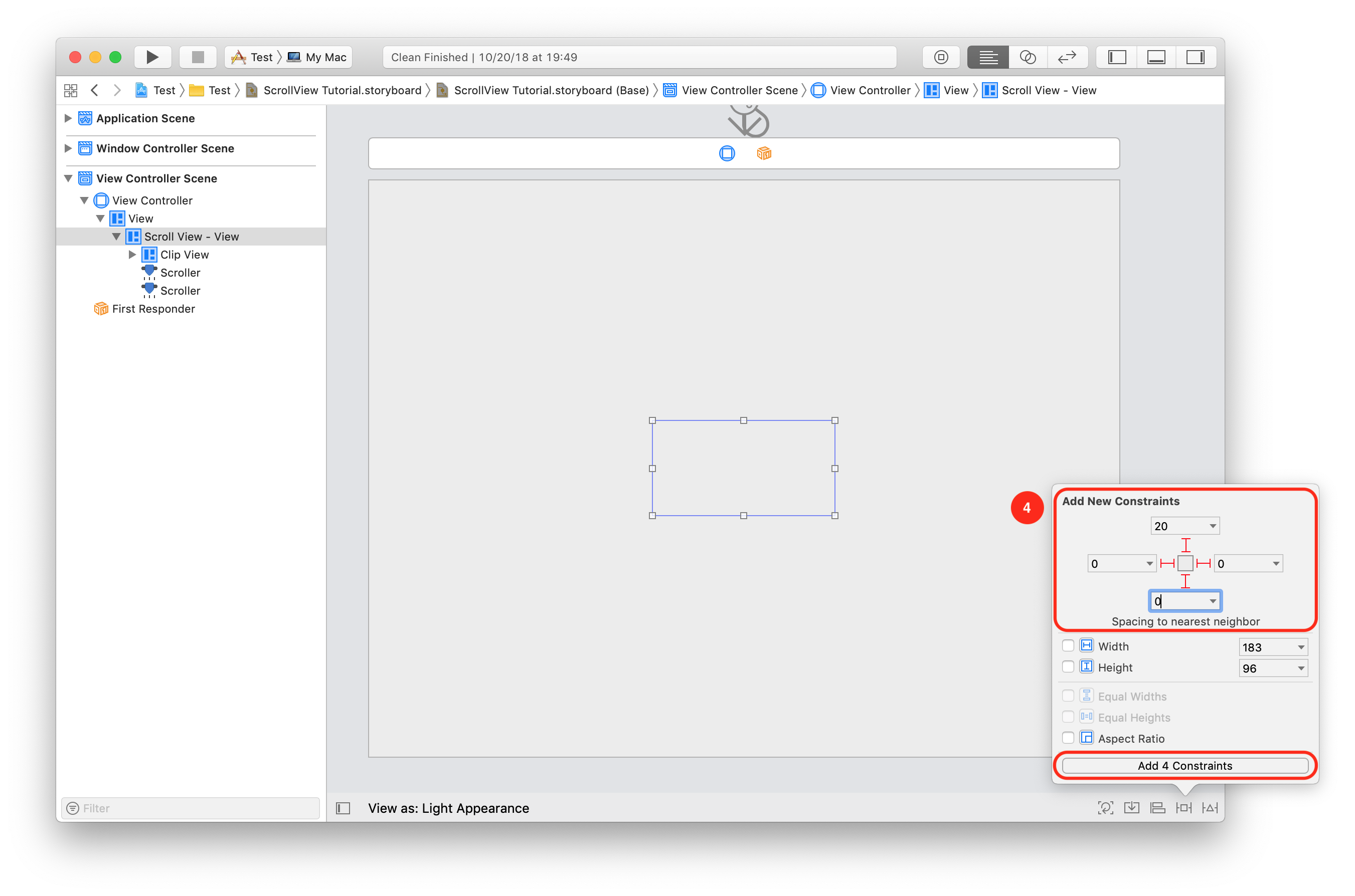 How to create a NSScrollView with horizontal direction using